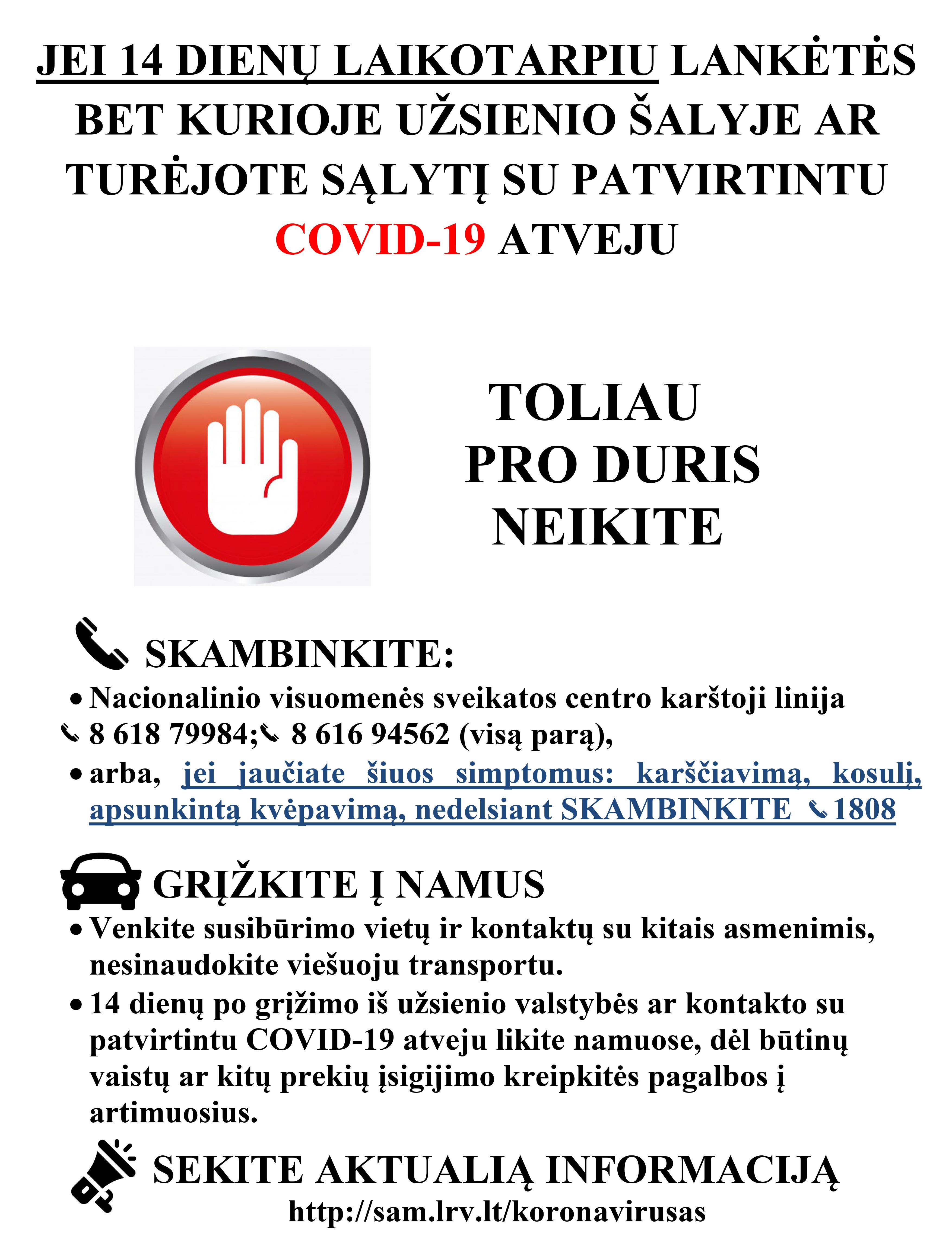 Rekomenduojamas plakatas prie vaistinės
